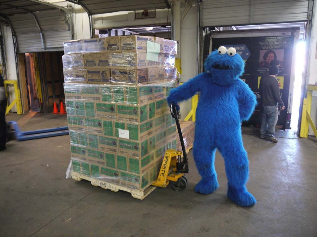 Cookie Monster moving. Move in Albuquerque.