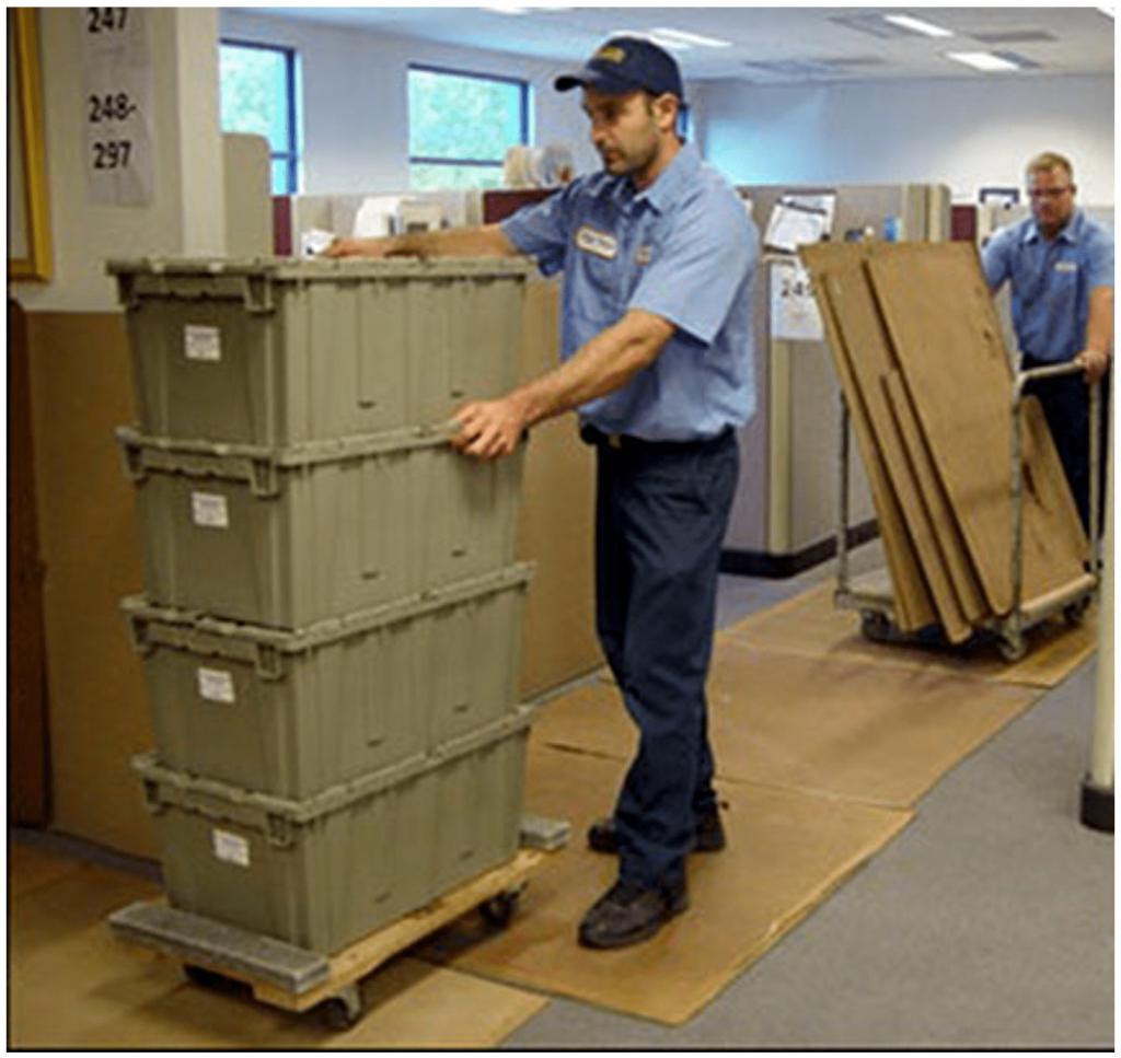 Buehler Crates Equipment Pushing