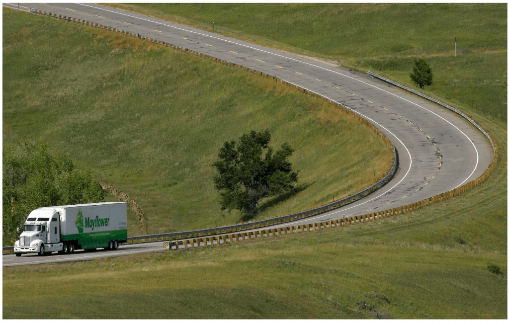 Buehler Long Distance Move Truck Road