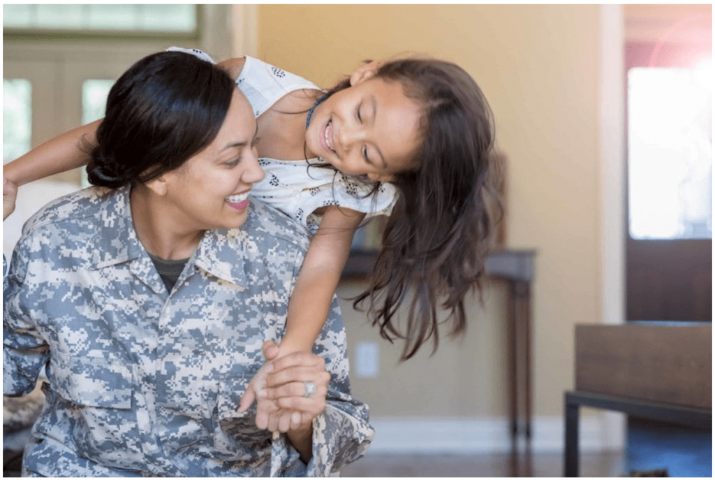 Military Mother Daughter Home