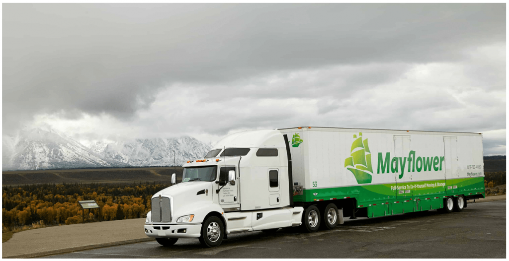 Mayflower Military Move Truck