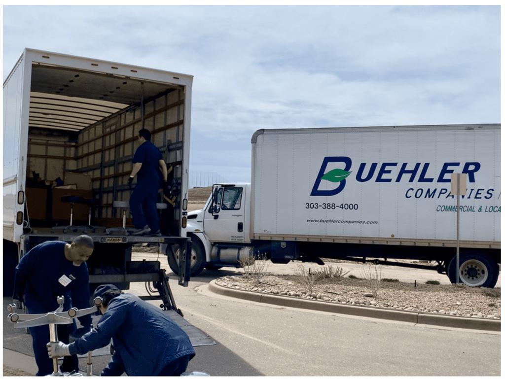 loading items in truck