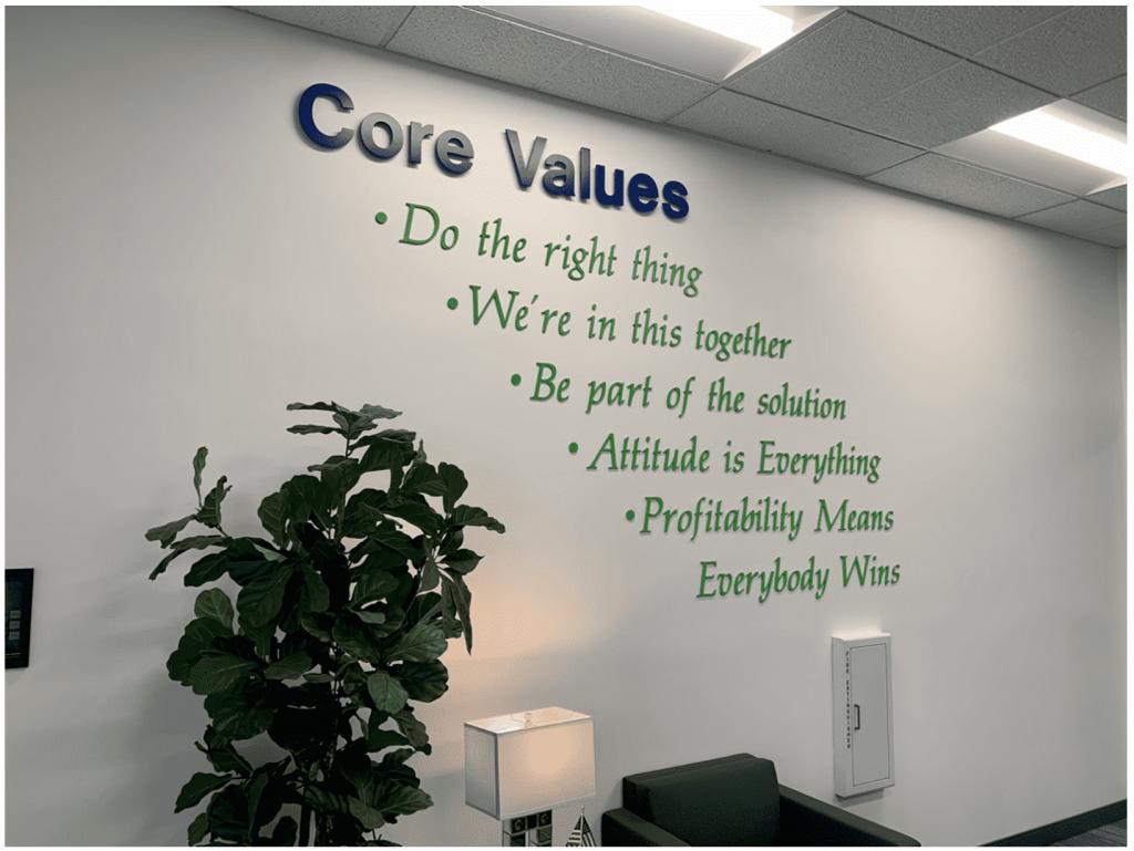 Buehler's Core Values